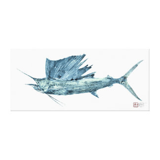 Life Size Atlantic Sailfish Canvas Print