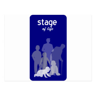 Life stages postcard