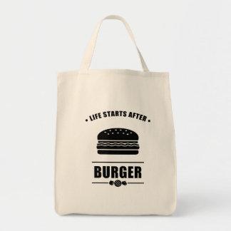 Life Starts After BURGER Tote Bag