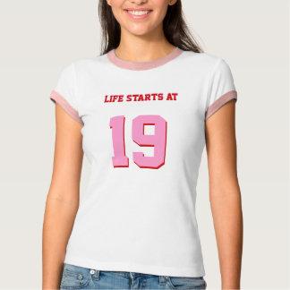 Life Starts At 19 Funny 19th Birthday Tees
