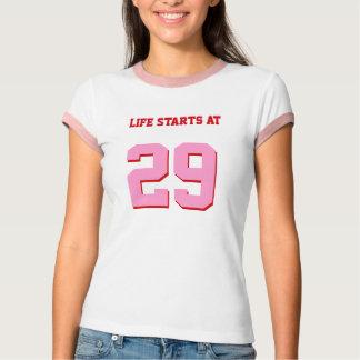 Life Starts At 29 Joke 29th Funny Birthday T-Shirt