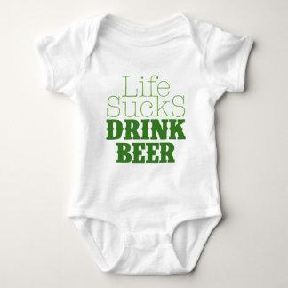 Life Sucks Drink Beer Baby Bodysuit