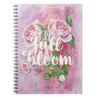 Life-Summer Flower Floral Saying Beautiful Spiral Note Book