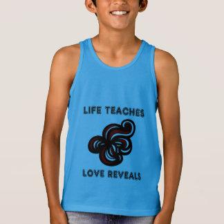 """Life Teaches, Love Reveals"" Boys' Tanktop"