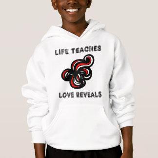 """Life Teaches, Love Reveals"" Kids' Unisex Hoodie"