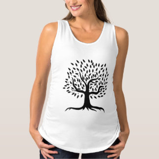 Life Tree Black & White Maternity Tank Top