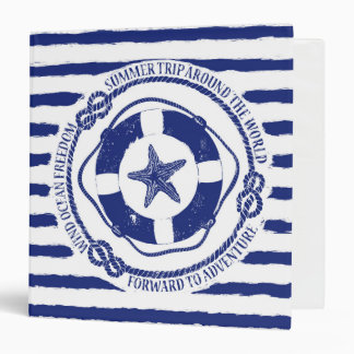 Lifebuoy And Starfish Vinyl Binder