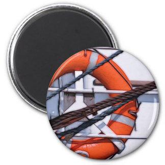 Lifebuoy digital painting transformation 2 inch round magnet