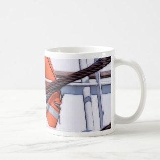Lifebuoy digital painting transformation coffee mug
