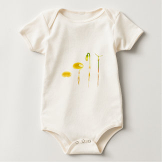 Lifecycle germination bean on white for education baby bodysuit