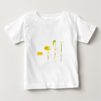 Lifecycle germination bean on white for education baby T-Shirt