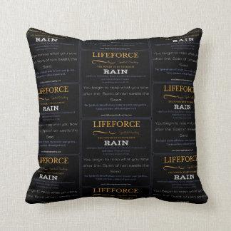 LifeForce Meditation Cushion: RAIN Throw Pillow