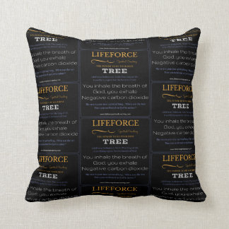LifeForce Meditation Cushion: TREE Throw Pillow