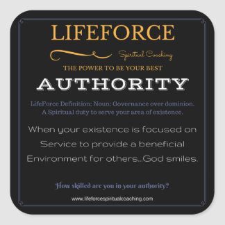 LifeForce Stickers 20PK: AUTHORITY
