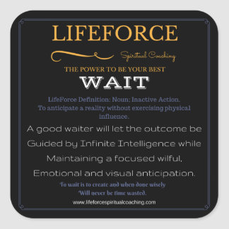 LifeForce Stickers 20PK: WAIT