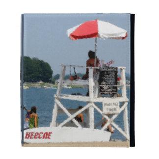 Lifeguard Beach iPad Folio Cover