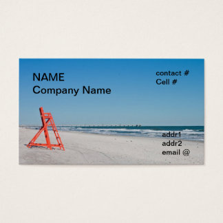 lifeguard beach chair business card