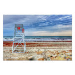 Lifeguard Beach Chair Poster Print Newport