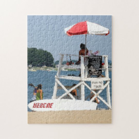 Lifeguard Beach Jigsaw Puzzle
