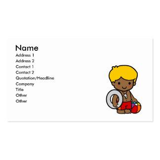 Lifeguard Boy Business Card Template