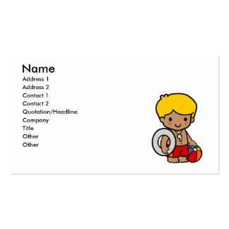 Lifeguard Boy Business Card