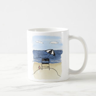Lifeguard Chair on the Beach Mug