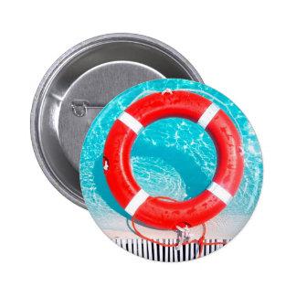 Lifeguard Lifesaver 2 Inch Round Button
