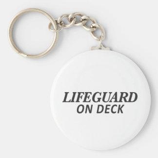 Lifeguard on Deck Print Keychain