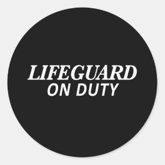 Lifeguard on Duty Print Classic Round Sticker