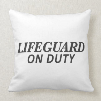 Lifeguard on Duty Print Throw Pillow