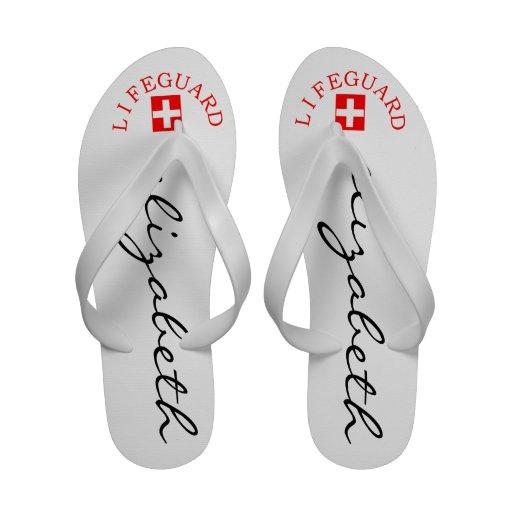 Lifeguard-Personalized Name Flip Flops