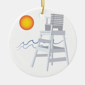 Lifeguard Stand Ceramic Ornament