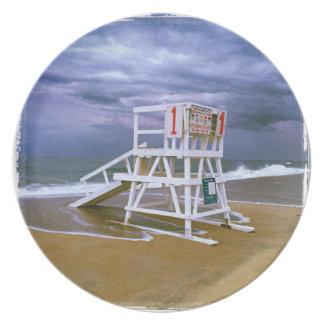 Lifeguard Stand Dinner Plate