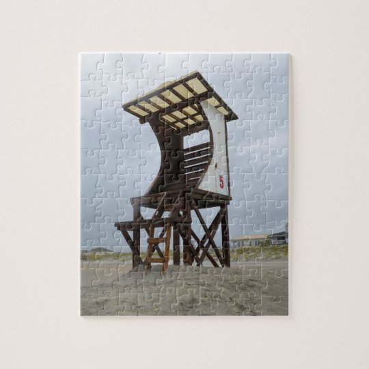 Lifeguard Stand Wrightsville Beach Jigsaw Puzzle