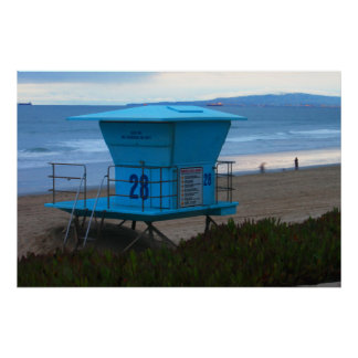 Lifeguard Station 28 Huntington Beach Poster