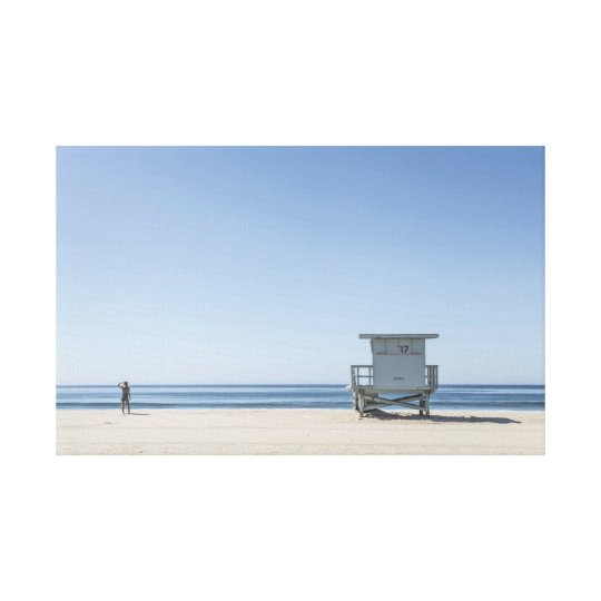 Lifeguard Station on a Beach Canvas Print