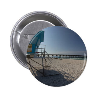 Lifeguard Tower at Panama City Beach Pier 2 Inch Round Button