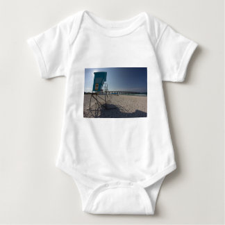 Lifeguard Tower at Panama City Beach Pier Baby Bodysuit