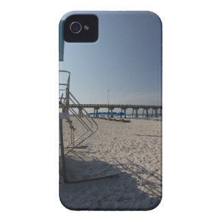 Lifeguard Tower at Panama City Beach Pier Case-Mate iPhone 4 Cases
