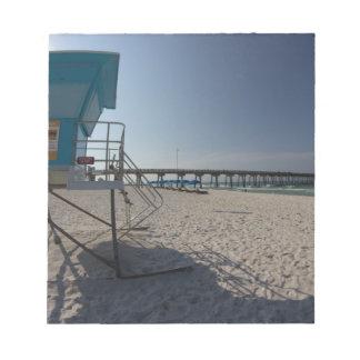 Lifeguard Tower at Panama City Beach Pier Notepads
