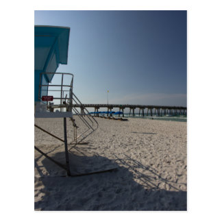 Lifeguard Tower at Panama City Beach Pier Postcard