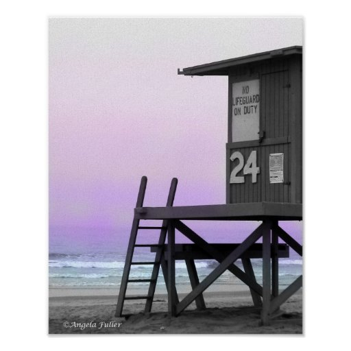 Lifeguard Tower Newport Beach Print