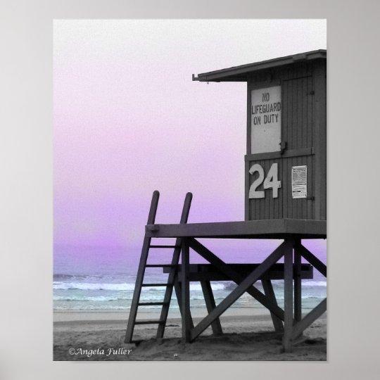 Lifeguard Tower Newport Beach Print