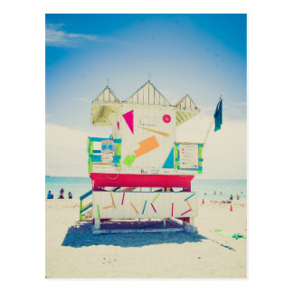Lifeguard Tower | South Beach, Miami Postcard