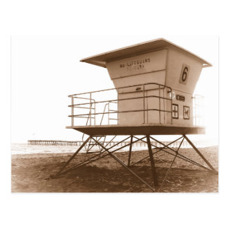 Lifeguard Tower Ventura Beach Postcard