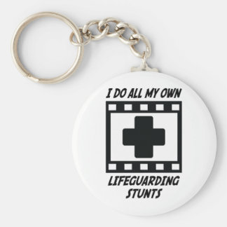 Lifeguarding Stunts Keychain