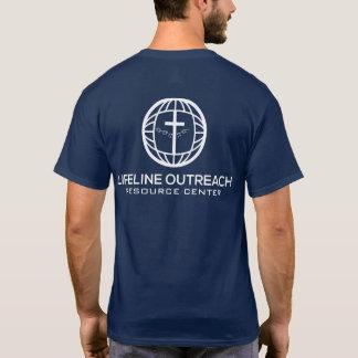 lifeLine Outreach Resource Center Blue Shirt