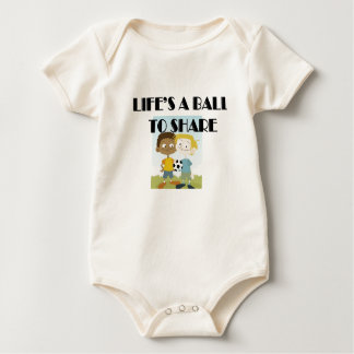 Life's a ball to share baby bodysuit
