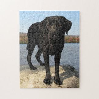 Life's a Beach - Black Labrador Jigsaw Puzzle