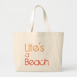 Life's a Beach Canvas Beach Tote
